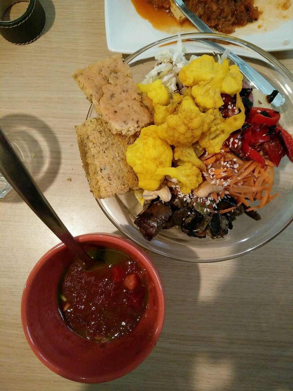 """Photo of Nishta  by <a href=""""/members/profile/SavPomegranate"""">SavPomegranate</a> <br/>Spicy soup and salad, so fresh!  <br/> October 1, 2017  - <a href='/contact/abuse/image/10021/310792'>Report</a>"""