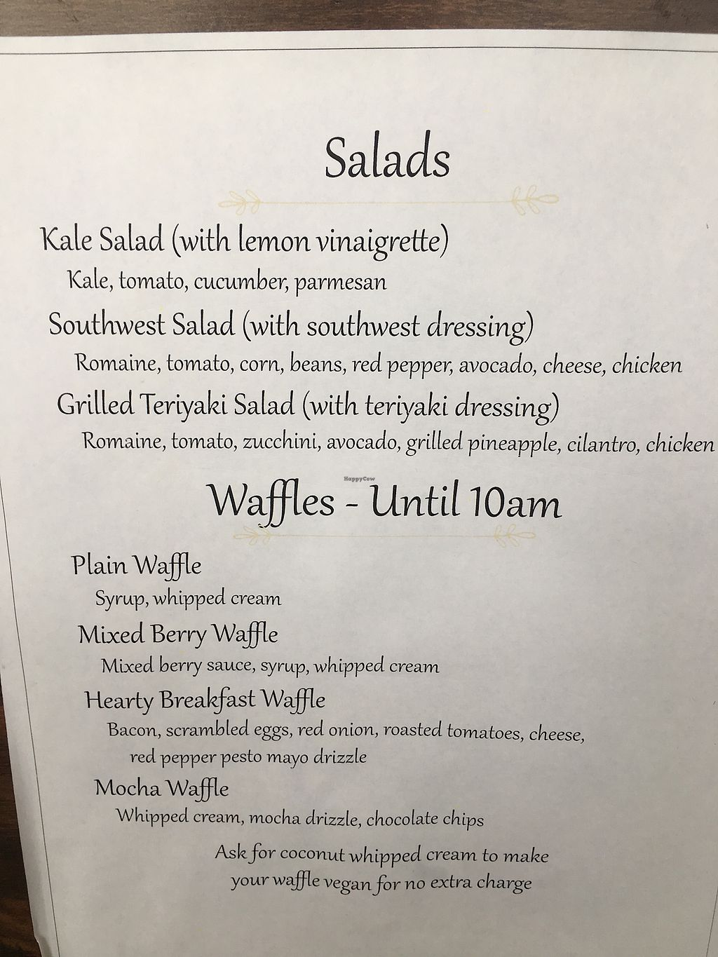 "Photo of SaraBella's Gluten Free Cafe  by <a href=""/members/profile/KellyStCoeur"">KellyStCoeur</a> <br/>Menu 2 <br/> March 7, 2018  - <a href='/contact/abuse/image/100240/367611'>Report</a>"