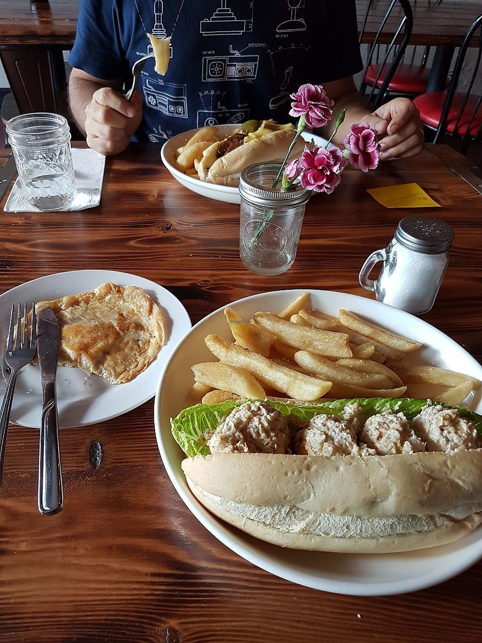 "Photo of Nick's Kitchen  by <a href=""/members/profile/PatriciaC"">PatriciaC</a> <br/>Tuna salad sandwich and the fried ""egg"" <br/> March 6, 2018  - <a href='/contact/abuse/image/100241/367446'>Report</a>"