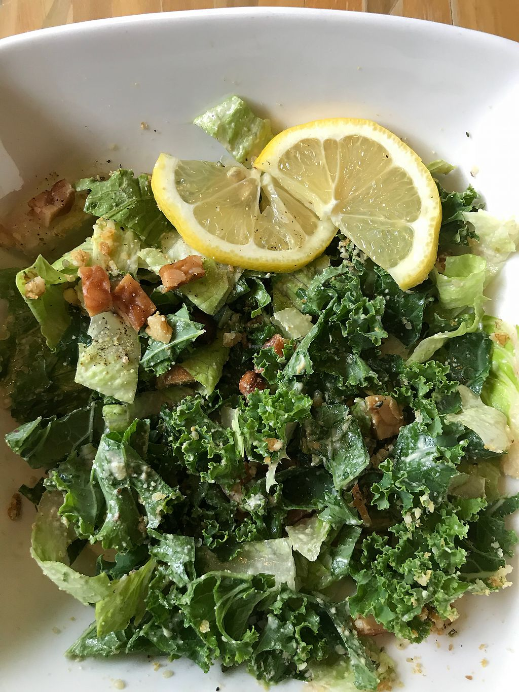 "Photo of Ashley's  by <a href=""/members/profile/prettywholesome"">prettywholesome</a> <br/>Vegan Caesar Salad  <br/> March 6, 2018  - <a href='/contact/abuse/image/100242/367486'>Report</a>"