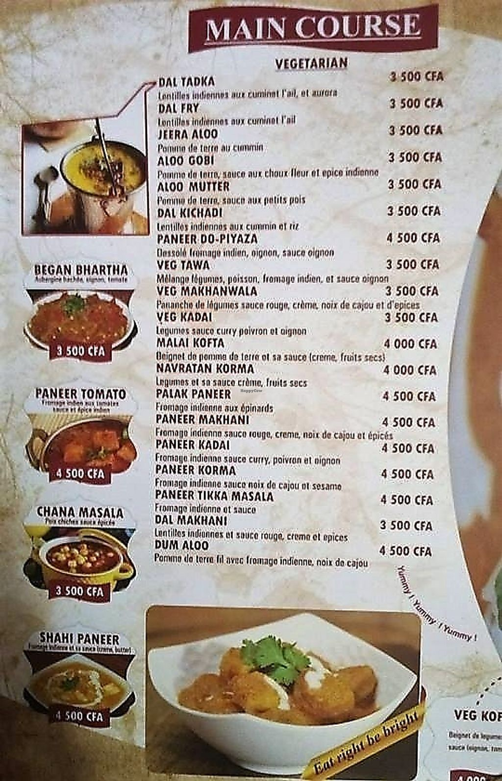 """Photo of Annapurna Indian Restaurant  by <a href=""""/members/profile/EvaBlumenwiese"""">EvaBlumenwiese</a> <br/>New menu (vegetarian dishes) <br/> November 11, 2017  - <a href='/contact/abuse/image/100272/324186'>Report</a>"""