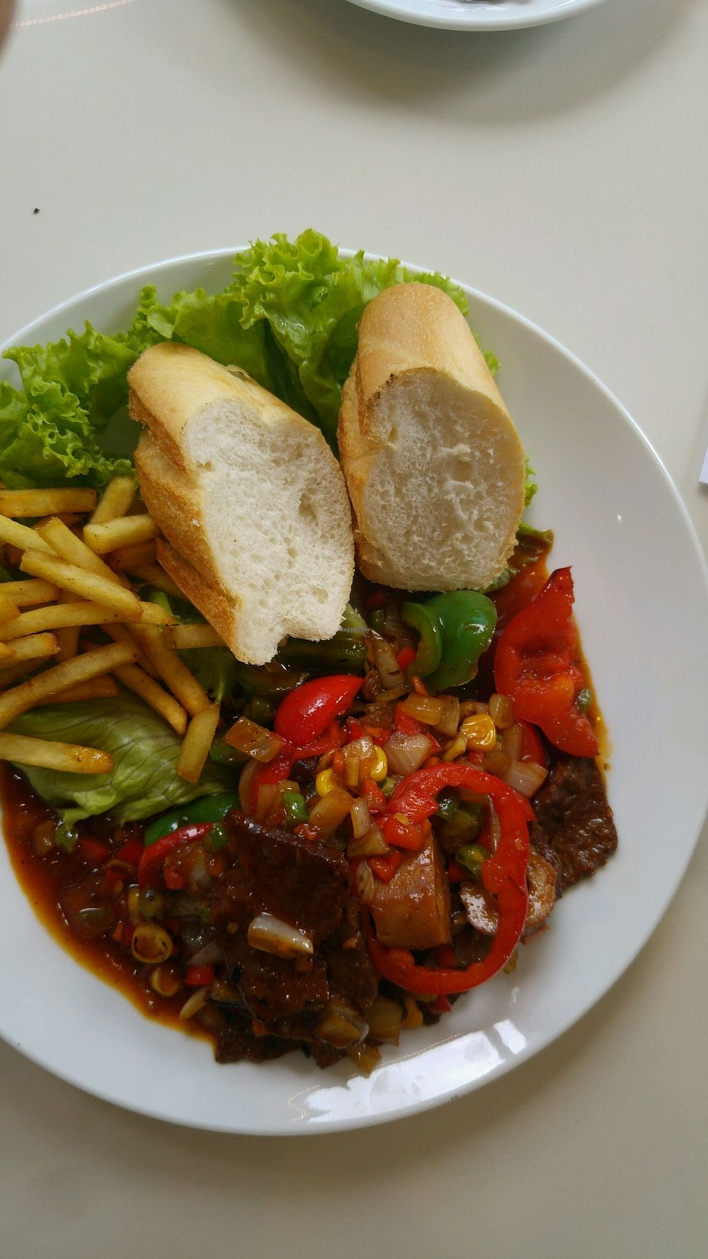 """Photo of Thien Cung - Loving Hut  by <a href=""""/members/profile/daveVN"""">daveVN</a> <br/>stir-fried """"enlightened steak"""" <br/> September 19, 2017  - <a href='/contact/abuse/image/100280/305998'>Report</a>"""