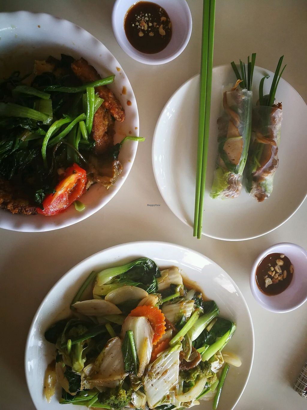"""Photo of Thien Cung - Loving Hut  by <a href=""""/members/profile/Yoanne"""">Yoanne</a> <br/>buffet, springrolls and fried sate noodles <br/> April 5, 2018  - <a href='/contact/abuse/image/100280/380977'>Report</a>"""