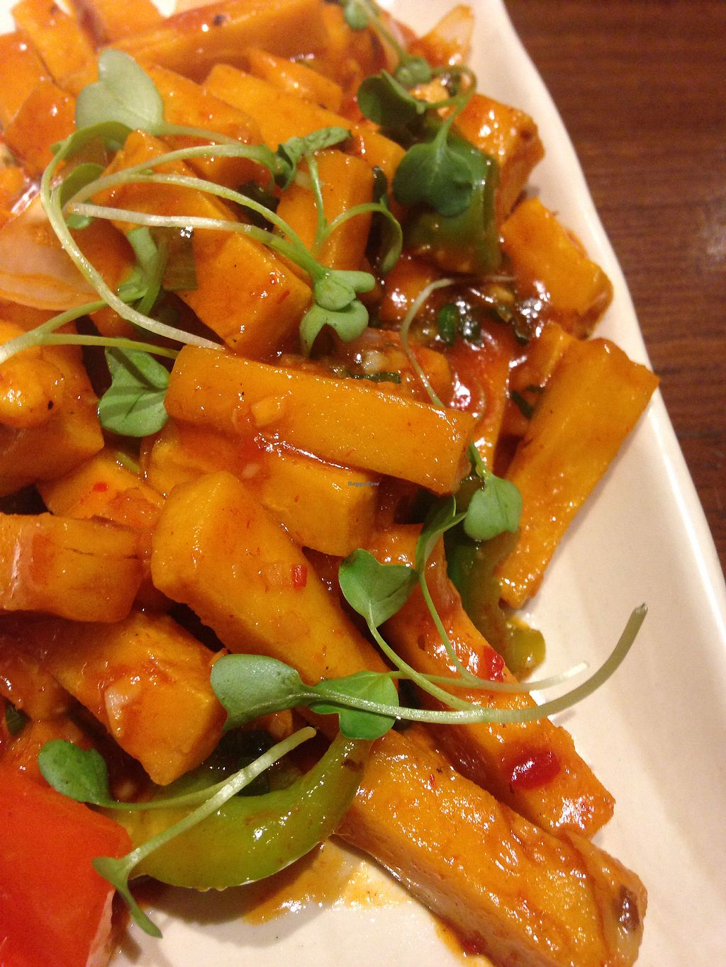 """Photo of Burma Burma Restaurant & Tea Room  by <a href=""""/members/profile/SophieCarolyn"""">SophieCarolyn</a> <br/>Tohu  Kyaw  - chilly tangy chickpea tohu <br/> February 28, 2018  - <a href='/contact/abuse/image/100283/364910'>Report</a>"""