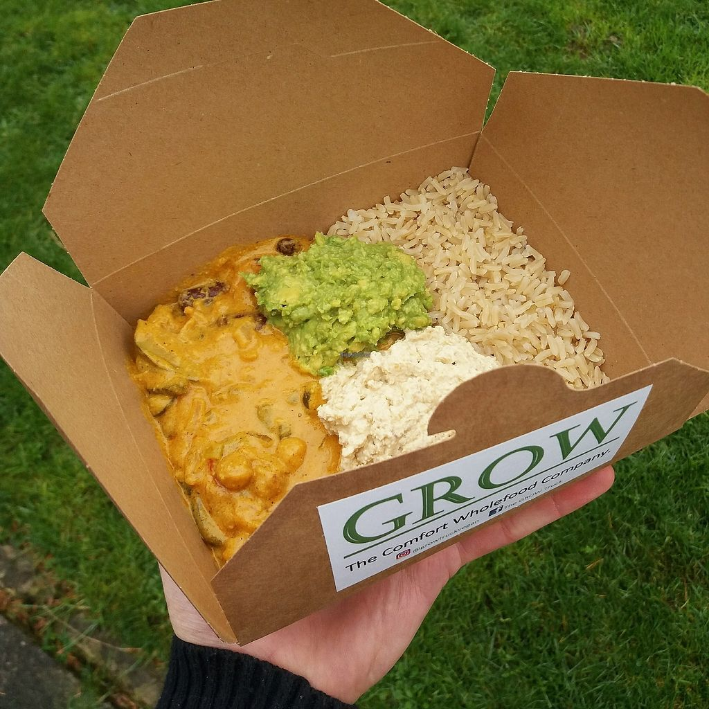 "Photo of The GROW Truck  by <a href=""/members/profile/TheGROWTruck"">TheGROWTruck</a> <br/>The Cashew Butter Curry with Hummus and Guac in The GROW Box <br/> September 6, 2017  - <a href='/contact/abuse/image/100295/301574'>Report</a>"