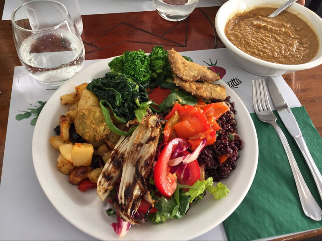 """Photo of Il Margutta Veggy Food and Art  by <a href=""""/members/profile/Veganmeower"""">Veganmeower</a> <br/>great lunch  <br/> June 9, 2016  - <a href='/contact/abuse/image/1002/153143'>Report</a>"""