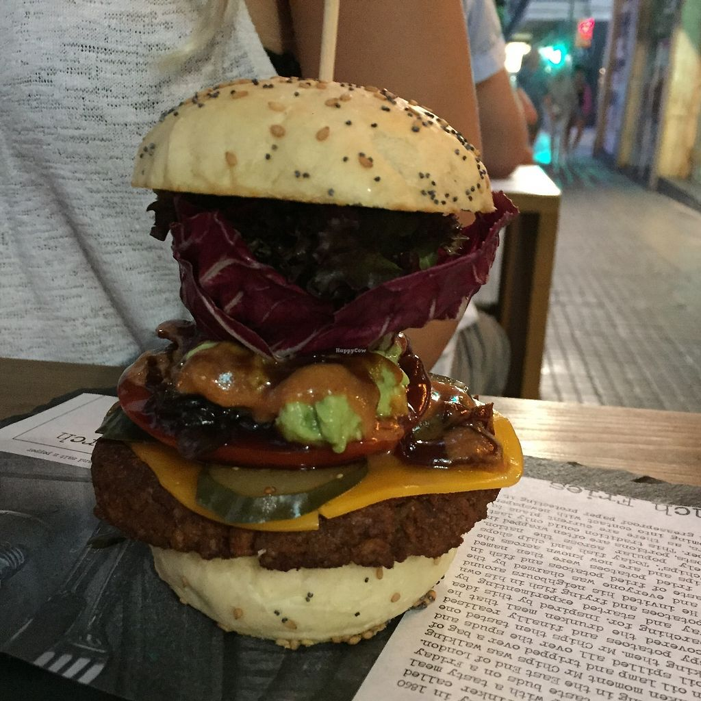"""Photo of The Lucky Bun  by <a href=""""/members/profile/TineH"""">TineH</a> <br/>Vegan BBQ burger <br/> September 5, 2017  - <a href='/contact/abuse/image/100310/301060'>Report</a>"""