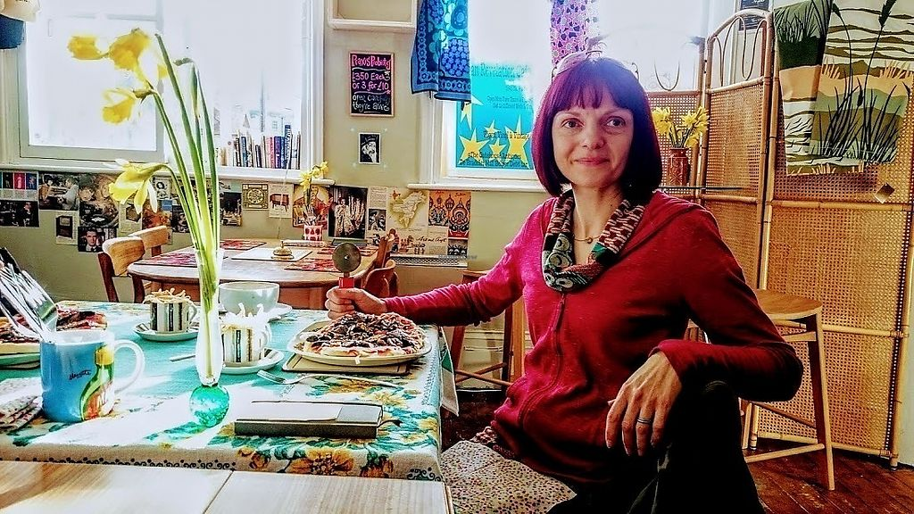 """Photo of Vegan Revelation Cafe  by <a href=""""/members/profile/Glitter-pixie"""">Glitter-pixie</a> <br/>Vegan Revelation Forage Pizza.... Yum! <br/> February 10, 2018  - <a href='/contact/abuse/image/100317/357438'>Report</a>"""