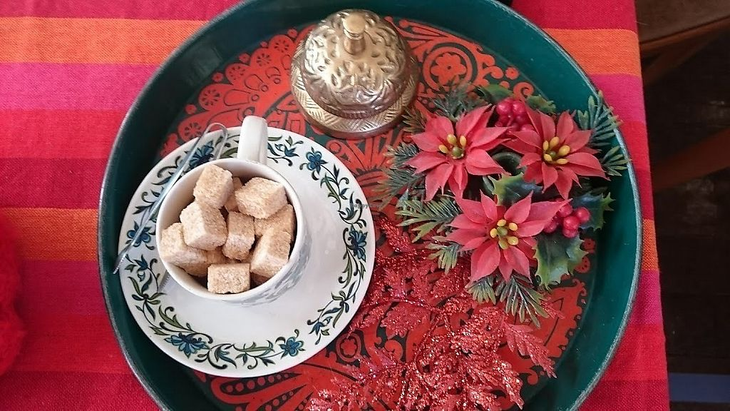 """Photo of Vegan Revelation Cafe  by <a href=""""/members/profile/Glitter-pixie"""">Glitter-pixie</a> <br/>How posh! Sugar cubes, serving tongues and a bell to ring for service at Vegan Revelation Café, Belper <br/> February 10, 2018  - <a href='/contact/abuse/image/100317/357447'>Report</a>"""