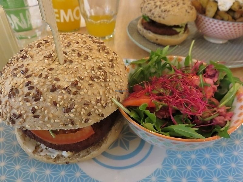 """Photo of Greenway  by <a href=""""/members/profile/TrudiBruges"""">TrudiBruges</a> <br/>Burger and salad at Greenway Leuven  <br/> September 25, 2017  - <a href='/contact/abuse/image/10031/308145'>Report</a>"""