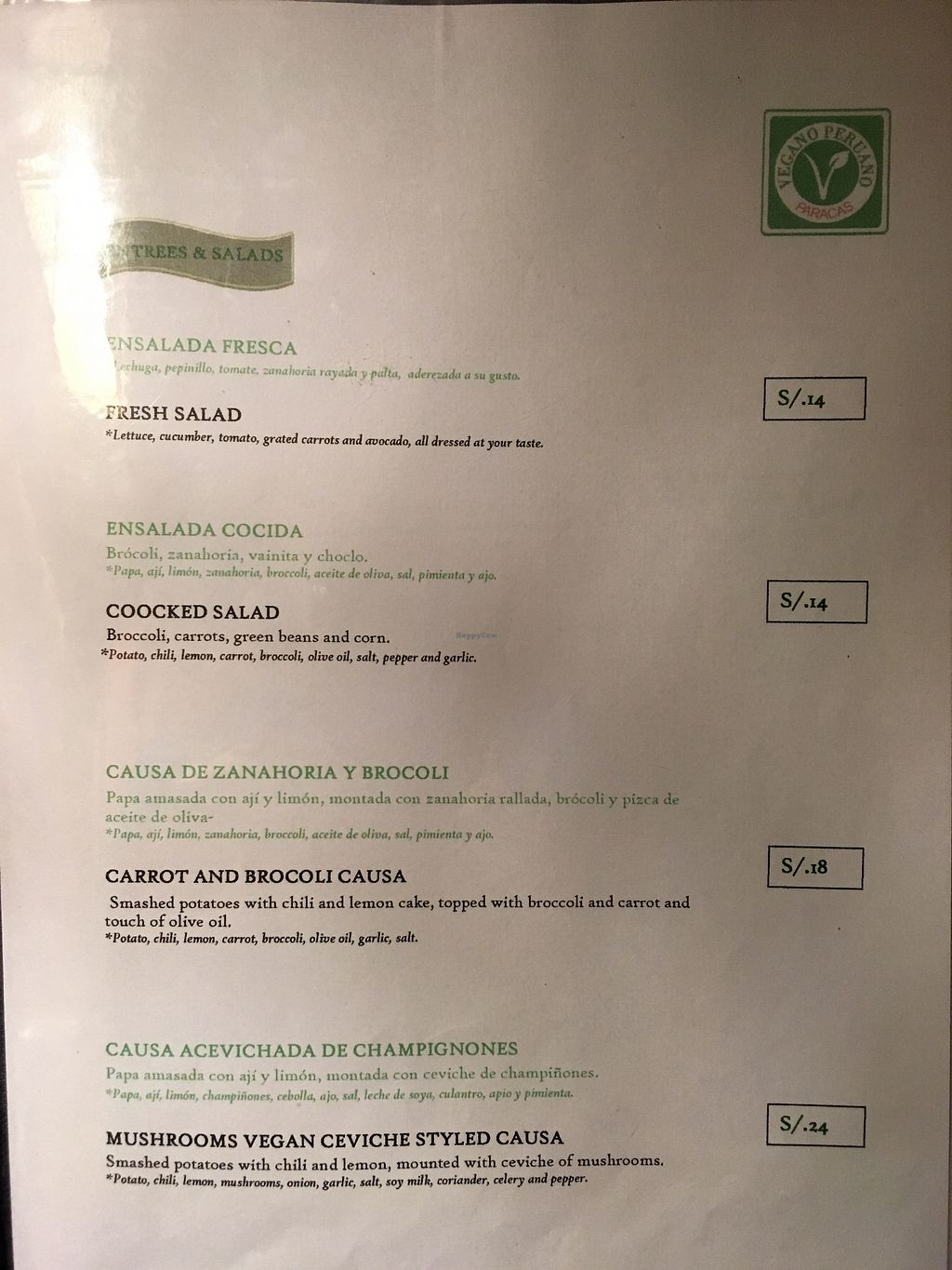 "Photo of Restaurant Paracas  by <a href=""/members/profile/peas-full"">peas-full</a> <br/>menu1 <br/> October 6, 2017  - <a href='/contact/abuse/image/100383/312349'>Report</a>"