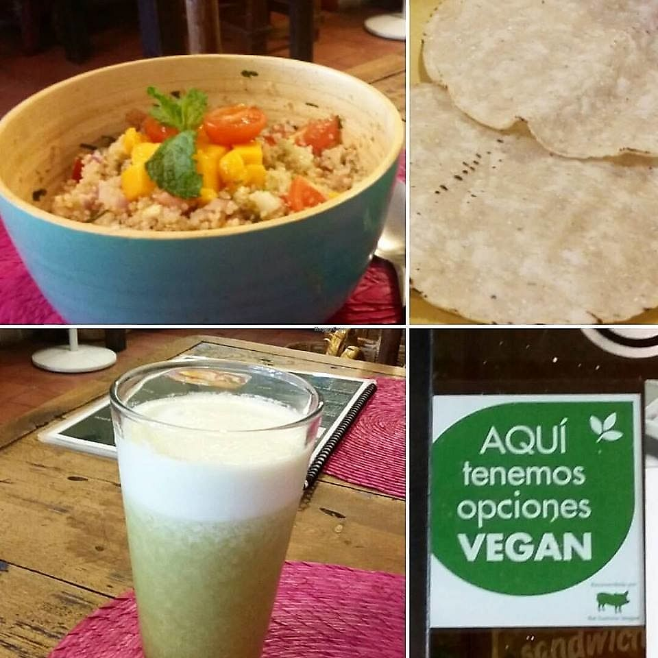 """Photo of Nomada Organics & Gourmet  by <a href=""""/members/profile/YanethGris"""">YanethGris</a> <br/>Vegan ceviche and green juice. Nomada Organics & Gourmet is recommended by The Humane League.   <br/> September 6, 2017  - <a href='/contact/abuse/image/100401/301653'>Report</a>"""