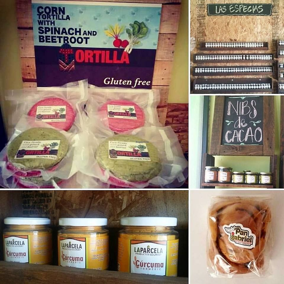 "Photo of CLOSED: La Parcela Productos Gourmet  by <a href=""/members/profile/YanethGris"">YanethGris</a> <br/>La Parcela has Pan Gabriel (vegan bread), corn tortilla with beetroot, nopal (cactus), spinach, cocoa & a variety of spices <br/> September 7, 2017  - <a href='/contact/abuse/image/100402/301664'>Report</a>"