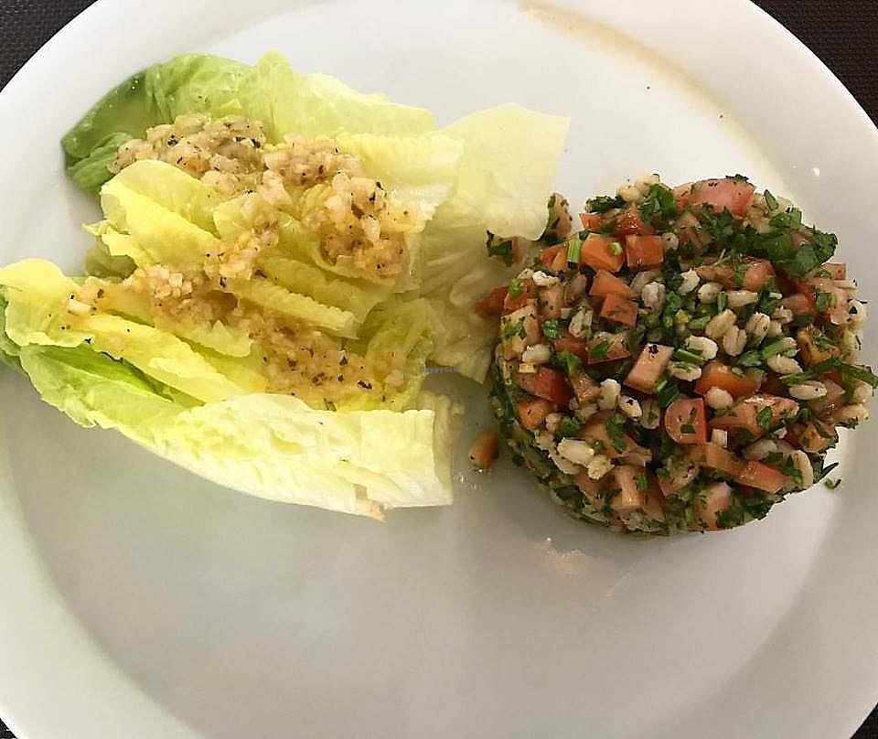 """Photo of NIM   by <a href=""""/members/profile/YanethGris"""">YanethGris</a> <br/>Vegan Tabbouleh with wheat salad, tomato, parsley, mint, lettuce and lemon vinaigrette. Price $100 pesos  <br/> September 26, 2017  - <a href='/contact/abuse/image/100409/308843'>Report</a>"""