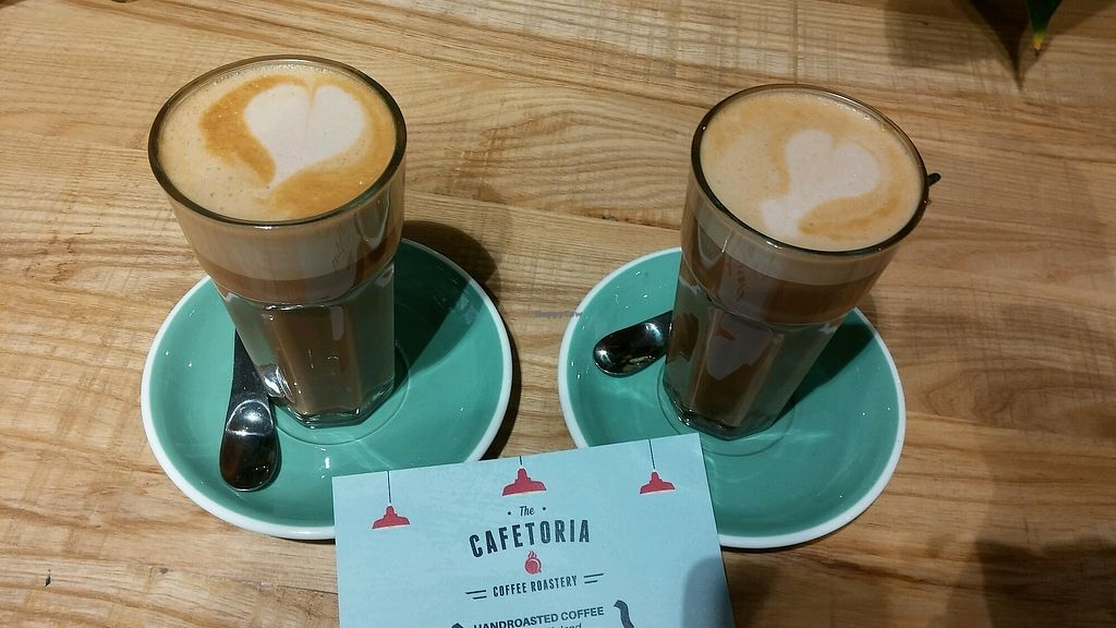 """Photo of Cafetoria - Barra Organica  by <a href=""""/members/profile/NHT"""">NHT</a> <br/>2x Mocha Latte with oat milk  <br/> February 14, 2018  - <a href='/contact/abuse/image/100423/359247'>Report</a>"""