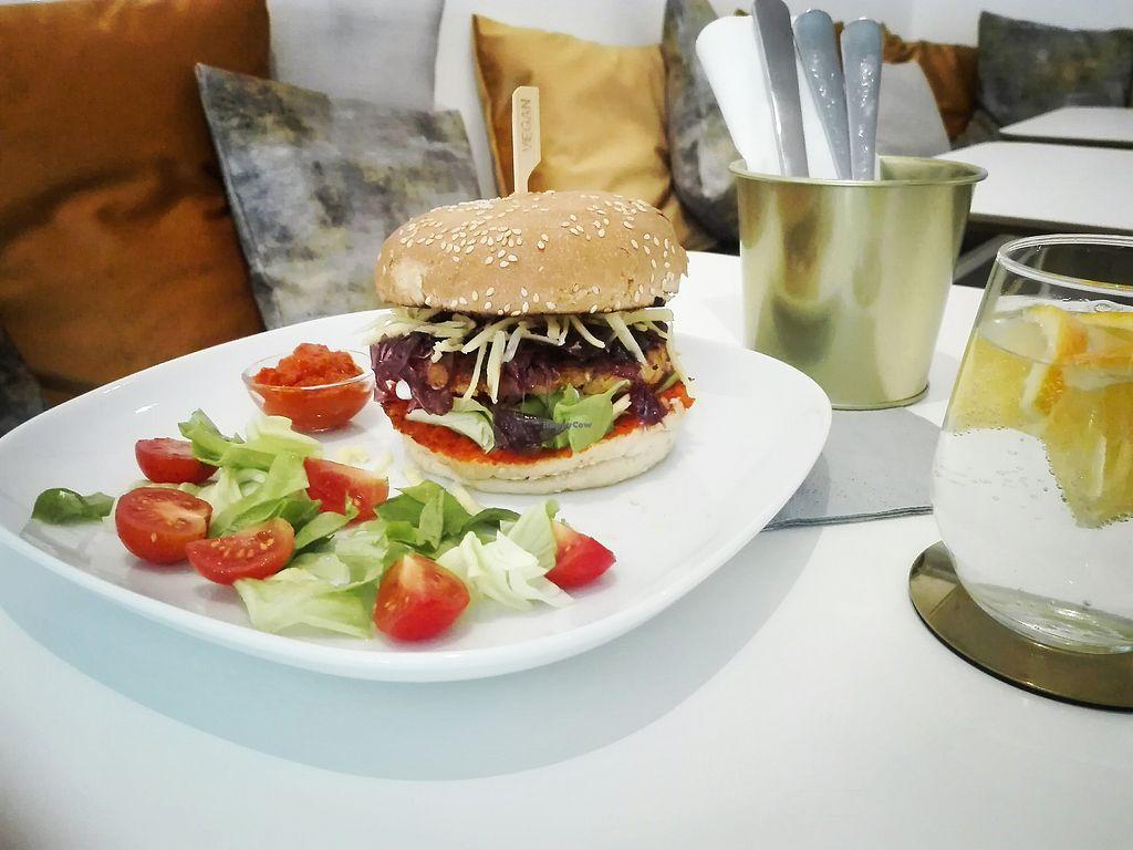 "Photo of Deli's Vegan Bisztro  by <a href=""/members/profile/delisvegan"">delisvegan</a> <br/>Vegan burger <br/> September 7, 2017  - <a href='/contact/abuse/image/100424/301706'>Report</a>"