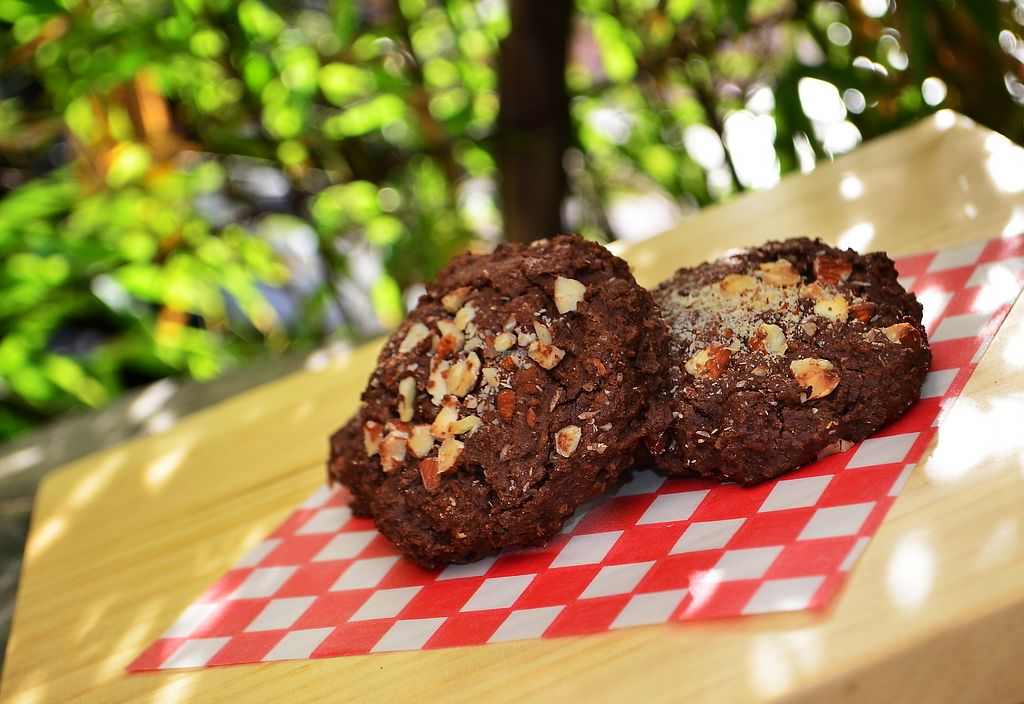 """Photo of Naturalia Cafe  by <a href=""""/members/profile/naturalistas"""">naturalistas</a> <br/>vegan chocolate and almond cookies <br/> September 8, 2017  - <a href='/contact/abuse/image/100432/302218'>Report</a>"""