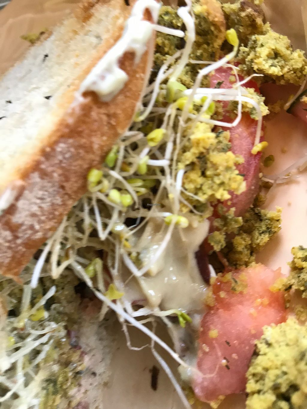 """Photo of Living Desert Ranch  by <a href=""""/members/profile/DeannaLynn837"""">DeannaLynn837</a> <br/>Falafel sprouted veggie gluten free sandwich  <br/> October 9, 2017  - <a href='/contact/abuse/image/100444/313685'>Report</a>"""