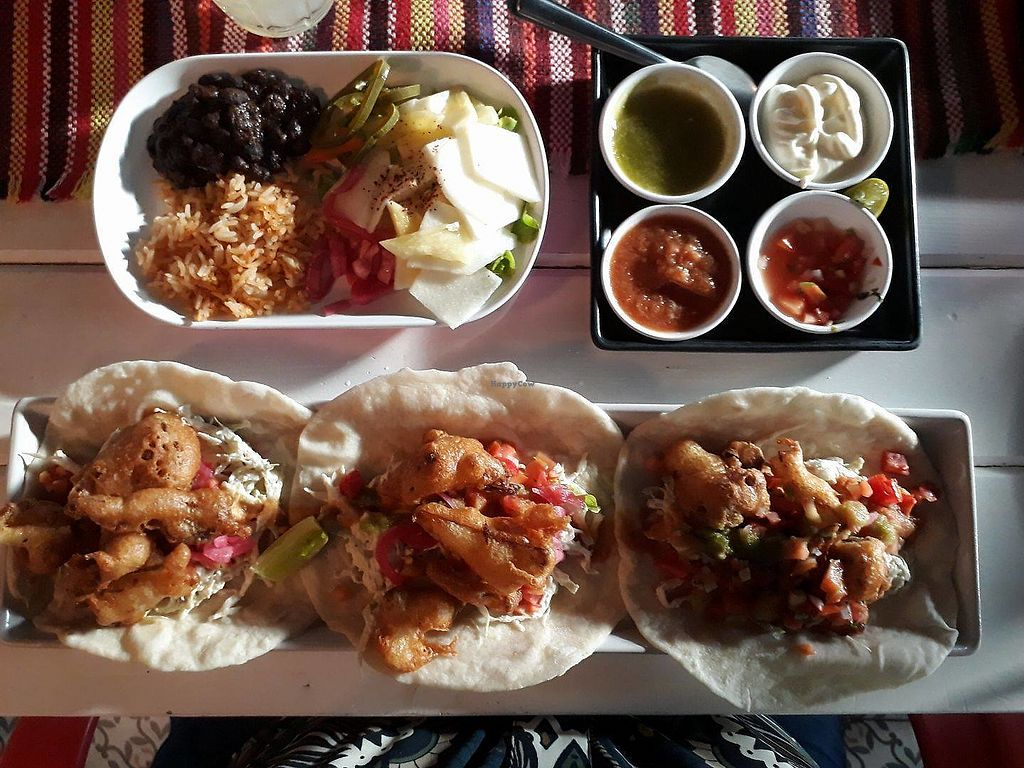 """Photo of Salsa Kitchen - Ruamchok  by <a href=""""/members/profile/LilacHippy"""">LilacHippy</a> <br/>Vegan baja style smoked cauliflower tacos <br/> September 8, 2017  - <a href='/contact/abuse/image/100467/301944'>Report</a>"""
