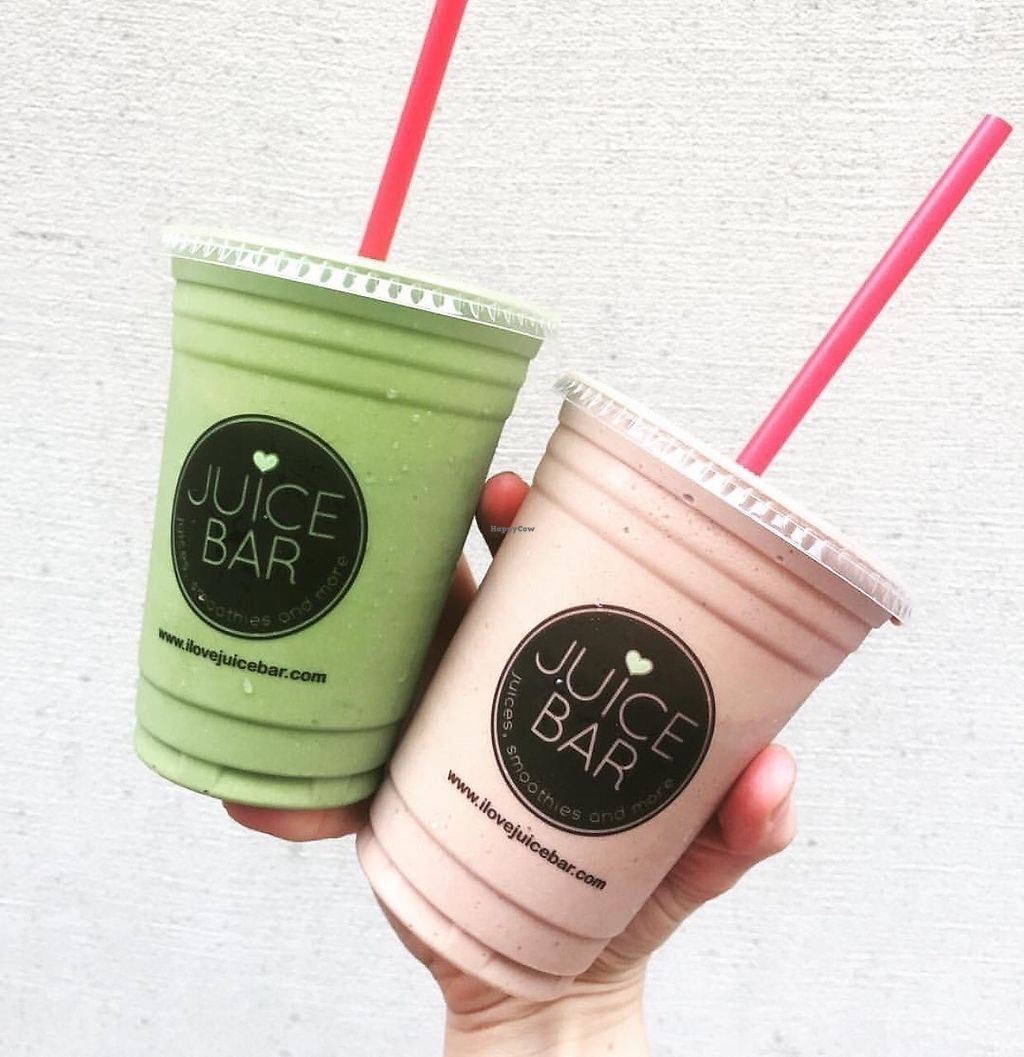 """Photo of I Love Juice Bar  by <a href=""""/members/profile/sobasirat"""">sobasirat</a> <br/>Matcha Green & PB&J smoothies <br/> September 7, 2017  - <a href='/contact/abuse/image/100483/301799'>Report</a>"""