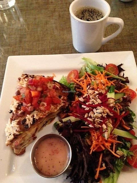 """Photo of Robert's Place Restaurant  by <a href=""""/members/profile/KathiChorneyko"""">KathiChorneyko</a> <br/>Robert's Vegan Enchilada Pie <br/> September 12, 2017  - <a href='/contact/abuse/image/100494/303765'>Report</a>"""