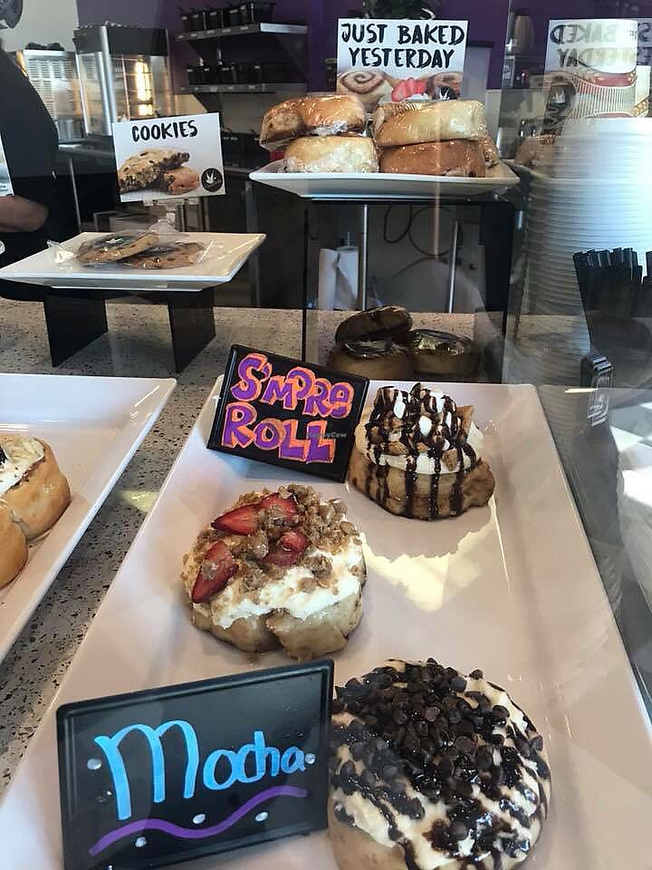 "Photo of Cinnaholic  by <a href=""/members/profile/ohemgee"">ohemgee</a> <br/>S'mores roll and mocha <br/> October 23, 2017  - <a href='/contact/abuse/image/100498/318013'>Report</a>"