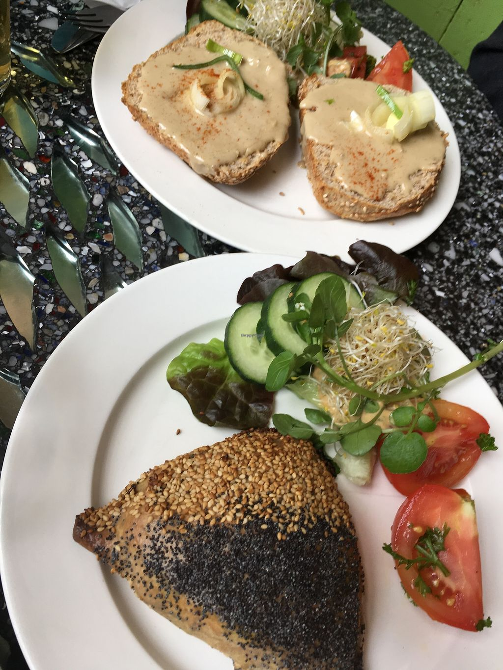 """Photo of Bolhoed  by <a href=""""/members/profile/vegan%20frog"""">vegan frog</a> <br/>Tahini toast and vegan pastry <br/> June 29, 2017  - <a href='/contact/abuse/image/1004/274855'>Report</a>"""