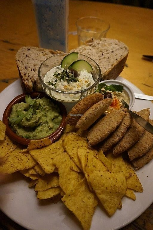 """Photo of Bolhoed  by <a href=""""/members/profile/Shama2004"""">Shama2004</a> <br/>3 appetizers(hummus, Tzatziki, Guacamole) <br/> December 24, 2017  - <a href='/contact/abuse/image/1004/338779'>Report</a>"""