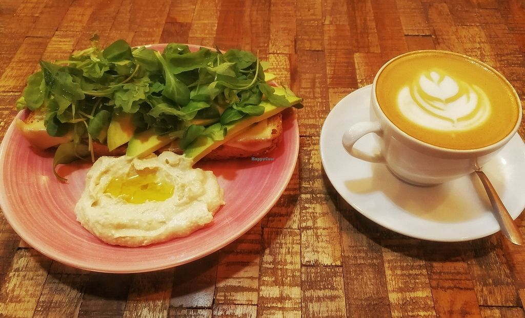 """Photo of CLOSED: Sweet Fit  by <a href=""""/members/profile/SweetFitBcn"""">SweetFitBcn</a> <br/>tostada vegana y café con leche de almendras <br/> September 20, 2017  - <a href='/contact/abuse/image/100500/306419'>Report</a>"""