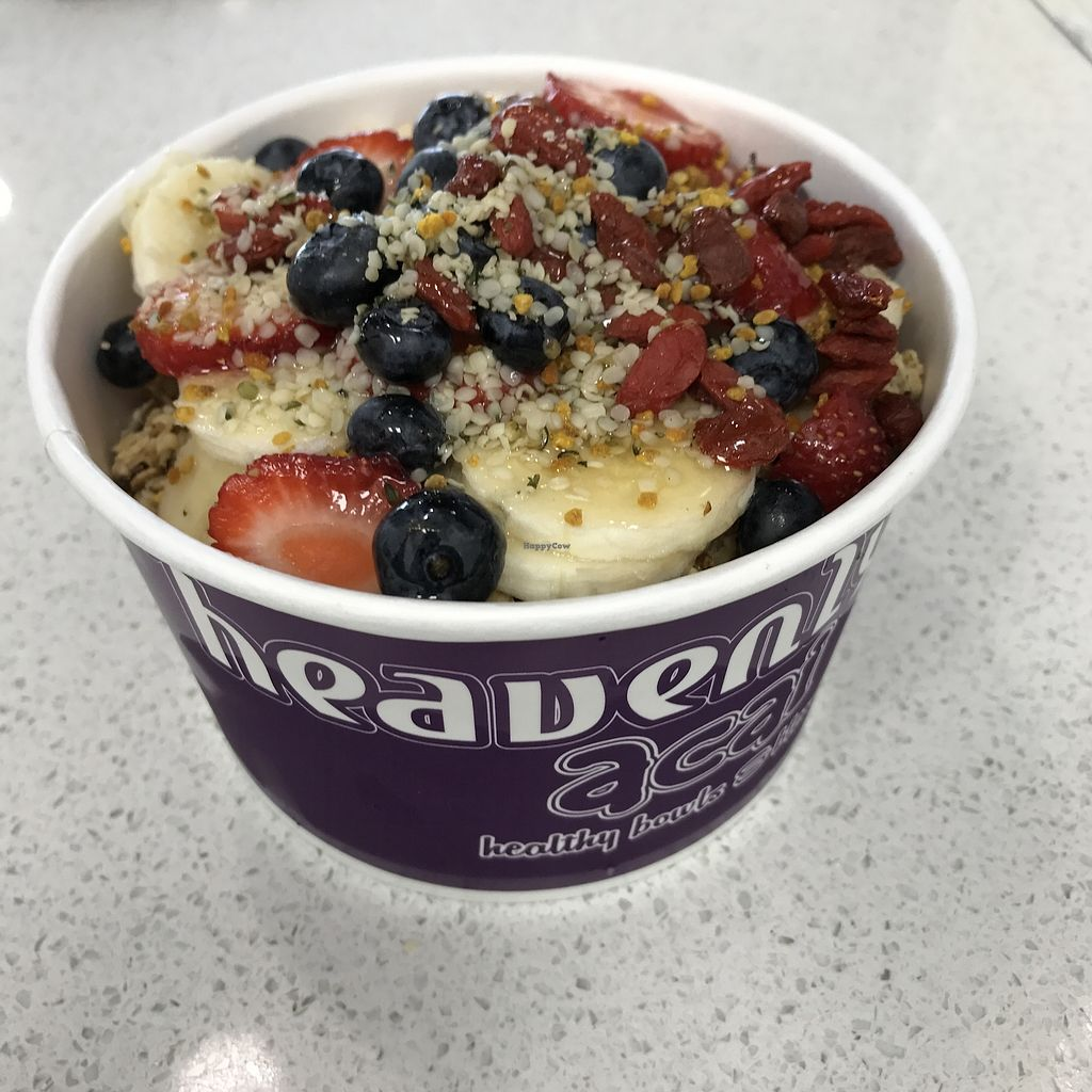 """Photo of Heavenly Acai  by <a href=""""/members/profile/goodman.phil"""">goodman.phil</a> <br/>the heavenly acai bowl...very filling and delicious <br/> February 1, 2018  - <a href='/contact/abuse/image/100510/353563'>Report</a>"""