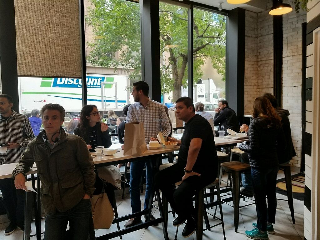 """Photo of Planta Burger  by <a href=""""/members/profile/kenvegan"""">kenvegan</a> <br/>inside 1st day opened! <br/> September 8, 2017  - <a href='/contact/abuse/image/100535/302136'>Report</a>"""