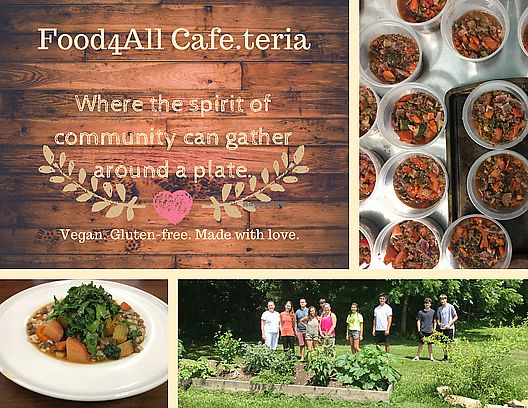"""Photo of Food4All Cafe'teria  by <a href=""""/members/profile/rachnomnom"""">rachnomnom</a> <br/>Food4All Cafe.teria is a great spot for vegan food! With an abundant garden and dedication to community, the food is made humbly, healthy, and ready to share with you and our community.  <br/> November 8, 2017  - <a href='/contact/abuse/image/100536/323364'>Report</a>"""