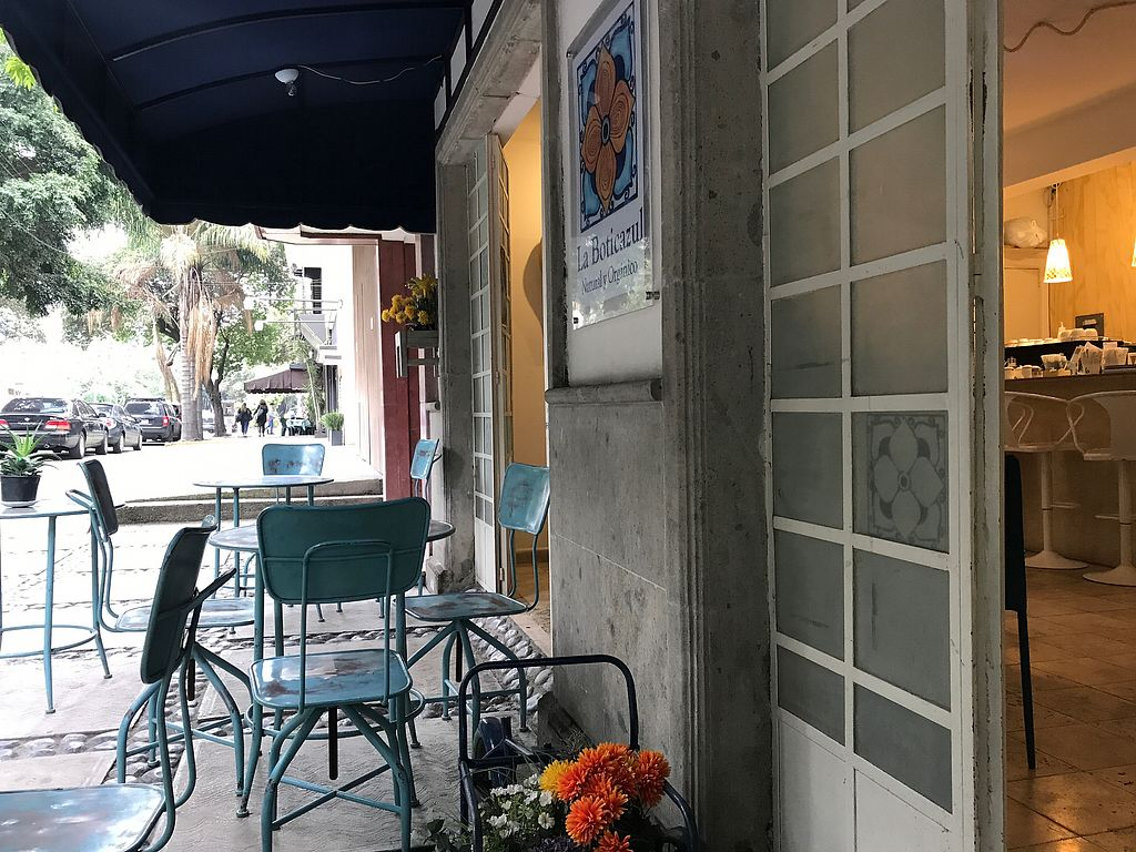 """Photo of La Boticazul  by <a href=""""/members/profile/aalex84"""">aalex84</a> <br/>Outside tables <br/> September 8, 2017  - <a href='/contact/abuse/image/100548/302183'>Report</a>"""