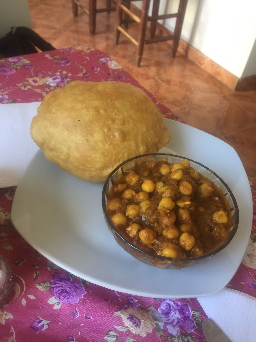 "Photo of Krishna Bhog  by <a href=""/members/profile/joegelay"">joegelay</a> <br/>Chickpea curry + heavenly bread <br/> December 20, 2017  - <a href='/contact/abuse/image/100551/337385'>Report</a>"