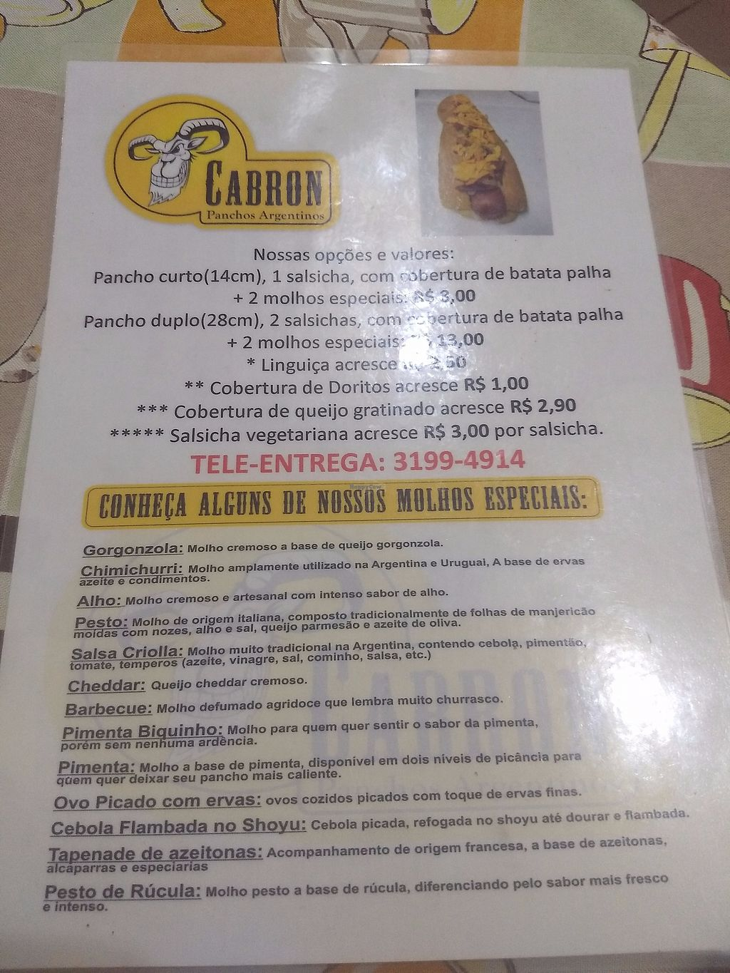 """Photo of El Cabron - Panchos Argentinos  by <a href=""""/members/profile/cedres"""">cedres</a> <br/>Menu <br/> September 9, 2017  - <a href='/contact/abuse/image/100568/302266'>Report</a>"""