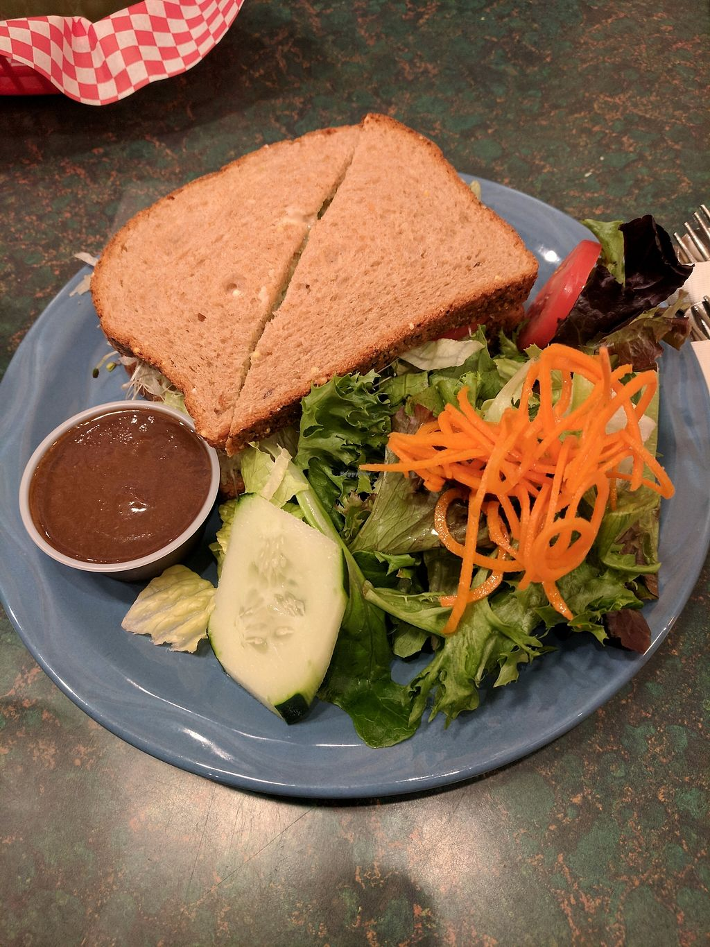 """Photo of The Stew Pot  by <a href=""""/members/profile/eee135"""">eee135</a> <br/>Avocado sandwich with sprouts  <br/> September 9, 2017  - <a href='/contact/abuse/image/100575/302409'>Report</a>"""