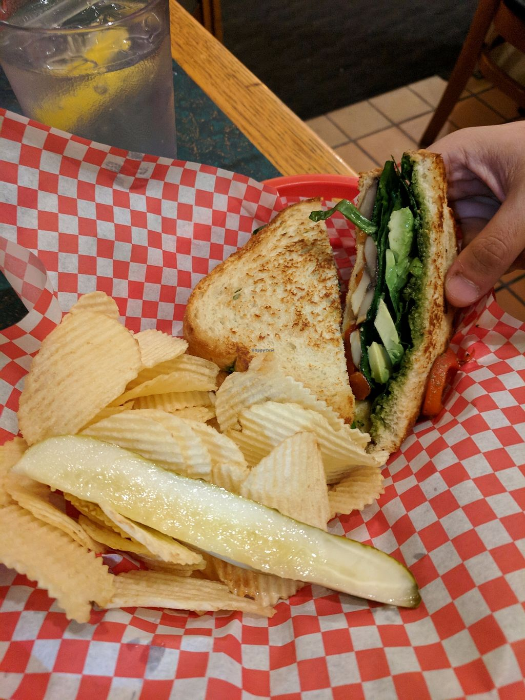 """Photo of The Stew Pot  by <a href=""""/members/profile/eee135"""">eee135</a> <br/>Portobello mushroom panini <br/> September 10, 2017  - <a href='/contact/abuse/image/100575/302783'>Report</a>"""