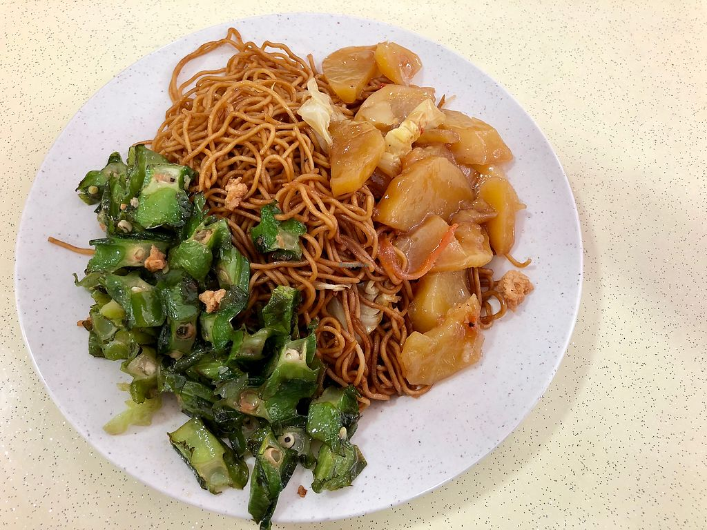 """Photo of Yi Pin Xiang   by <a href=""""/members/profile/CherylQuincy"""">CherylQuincy</a> <br/>Potatoes, winged beans and noodles <br/> January 30, 2018  - <a href='/contact/abuse/image/100663/352564'>Report</a>"""