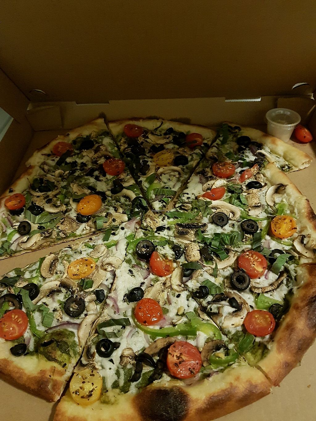 "Photo of The Lovin Oven  by <a href=""/members/profile/vaz"">vaz</a> <br/>pesto  pizza <br/> December 7, 2017  - <a href='/contact/abuse/image/100664/333018'>Report</a>"