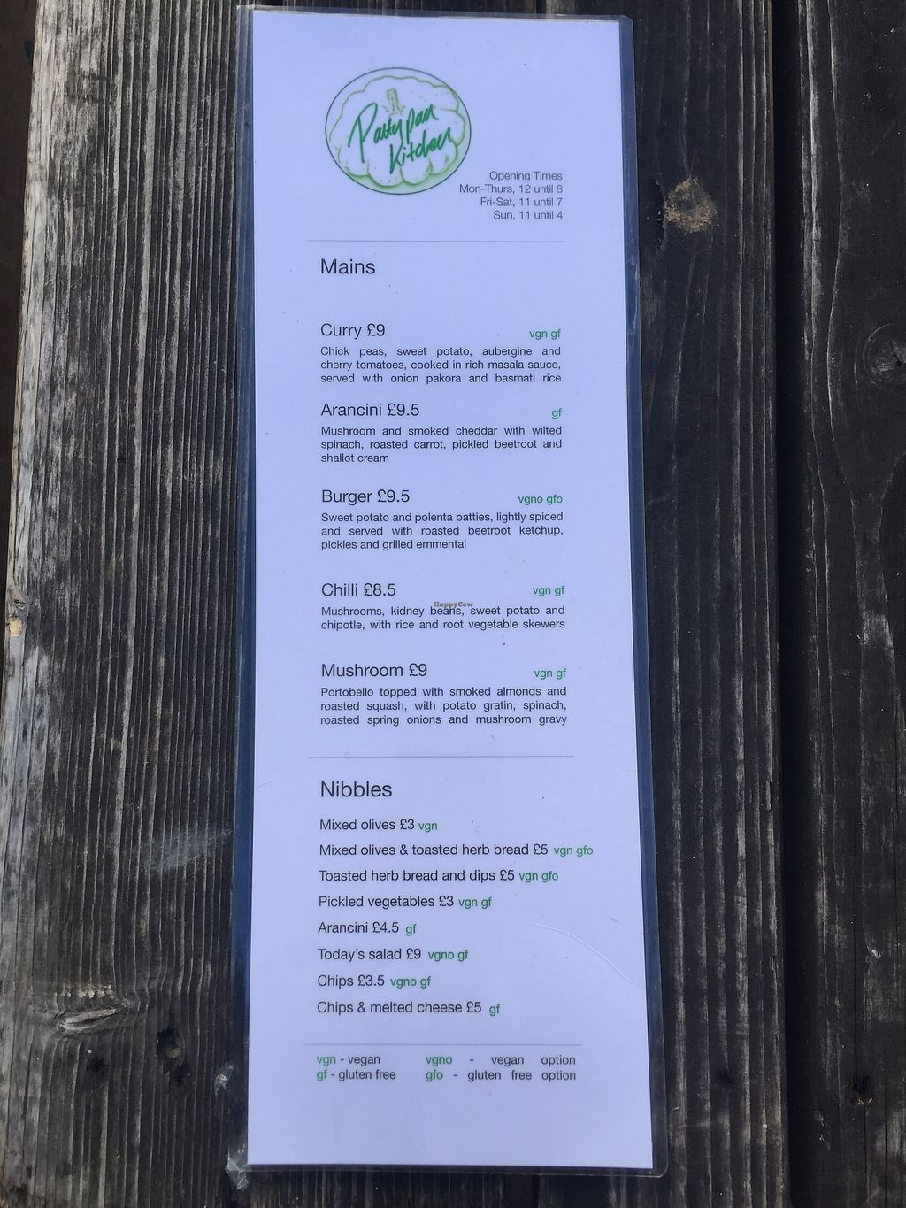 """Photo of Pattypan Kitchen at The Victory Pub  by <a href=""""/members/profile/greedyveganmama"""">greedyveganmama</a> <br/>Menu <br/> September 24, 2017  - <a href='/contact/abuse/image/100701/307701'>Report</a>"""