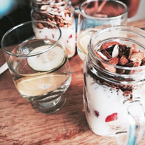 """Photo of El Tropical Holbox  by <a href=""""/members/profile/ElTropicalHolbox"""">ElTropicalHolbox</a> <br/>2 fruit + natural yogurt + toppings <br/> September 14, 2017  - <a href='/contact/abuse/image/100740/304106'>Report</a>"""