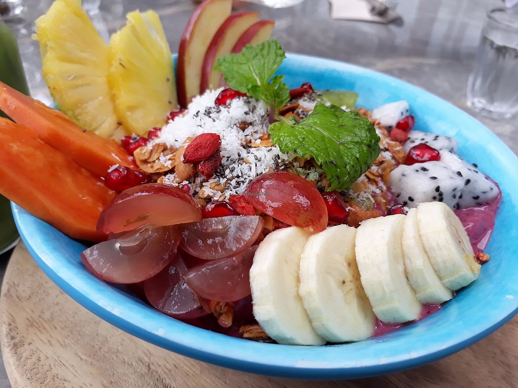 """Photo of Rustic & Blue  by <a href=""""/members/profile/LilacHippy"""">LilacHippy</a> <br/>Acai Smoothie Bowl (Vegan) <br/> September 12, 2017  - <a href='/contact/abuse/image/100744/303490'>Report</a>"""