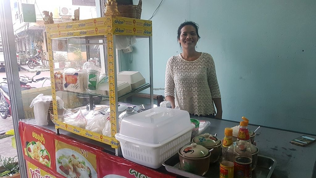 """Photo of Ahan Jay Taan Bun  by <a href=""""/members/profile/VeganCrush"""">VeganCrush</a> <br/>Toon the owner of the restaurant <br/> December 16, 2017  - <a href='/contact/abuse/image/10076/335994'>Report</a>"""