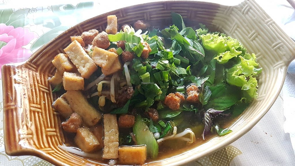 """Photo of Ahan Jay Taan Bun  by <a href=""""/members/profile/VeganCrush"""">VeganCrush</a> <br/>noodle soup with tofu and veggies <br/> December 16, 2017  - <a href='/contact/abuse/image/10076/335995'>Report</a>"""