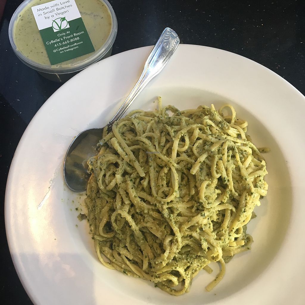 "Photo of CyBelle's Front Room  by <a href=""/members/profile/_jessicarrrabbit"">_jessicarrrabbit</a> <br/>Pesto linguini so good! <br/> December 10, 2017  - <a href='/contact/abuse/image/100785/334187'>Report</a>"