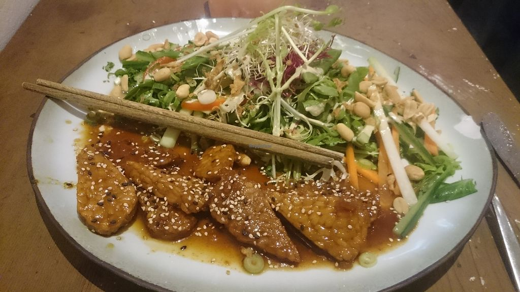 "Photo of Golden Temple  by <a href=""/members/profile/chb-pbfp"">chb-pbfp</a> <br/>Tempeh, peanut & vegetable salad <br/> September 17, 2017  - <a href='/contact/abuse/image/1007/305462'>Report</a>"
