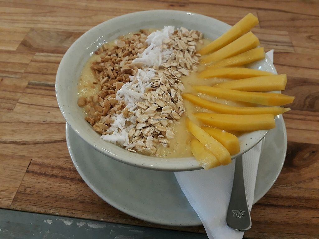 """Photo of Blended Wellness Smoothie Bar  by <a href=""""/members/profile/LilacHippy"""">LilacHippy</a> <br/>Smoothie Bowl  <br/> December 28, 2017  - <a href='/contact/abuse/image/100803/340027'>Report</a>"""