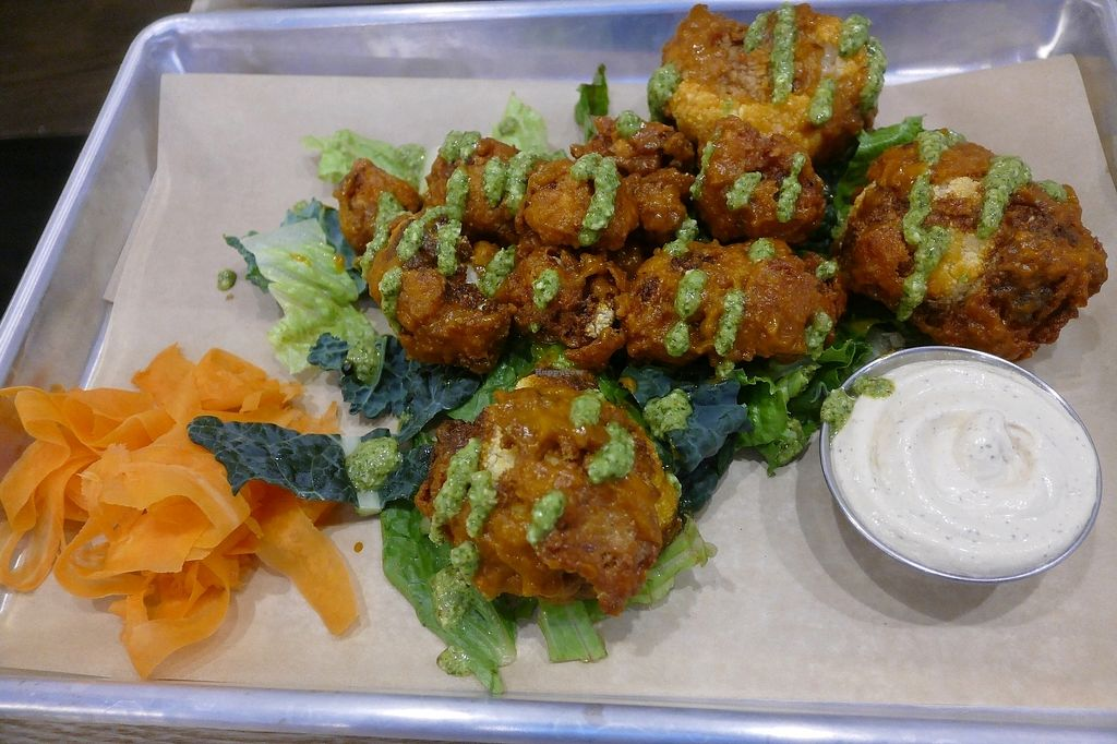 """Photo of BoltCutter  by <a href=""""/members/profile/xxlilaznbo1pc5xx"""">xxlilaznbo1pc5xx</a> <br/>Buffalo Cauliflower: Battered cauliflower. Habanero buffalo. Almond cilantro chimichurri. Ranch <br/> September 12, 2017  - <a href='/contact/abuse/image/100806/303811'>Report</a>"""