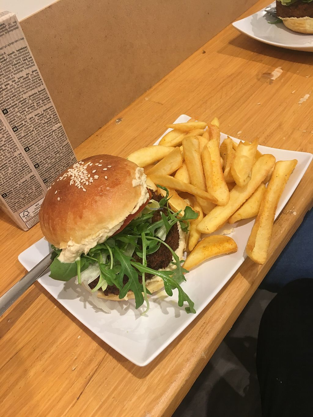 """Photo of Snack Vegi  by <a href=""""/members/profile/Jonathon67"""">Jonathon67</a> <br/>Veggie burger and fries  <br/> September 12, 2017  - <a href='/contact/abuse/image/100820/303717'>Report</a>"""