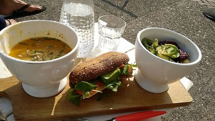 """Photo of CLOSED: Hartelijk Hoofddorp  by <a href=""""/members/profile/StephenEamonn"""">StephenEamonn</a> <br/>3 of a kind meal combo (great salad!) <br/> September 28, 2017  - <a href='/contact/abuse/image/100825/309398'>Report</a>"""